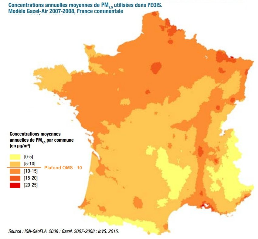 Pollution_PM2,5_2007-2008_France